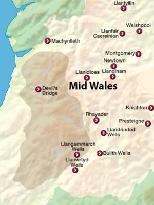 Mid Wales Map